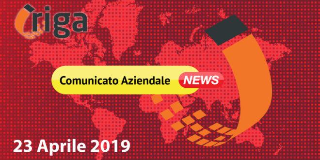 COMUNICATO DEL 23.04.19