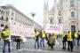 La fotogallery della manifestazione di Roma in Piazza del Popolo