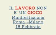 Tutti i lavoratori del gioco legale in piazza per una  storica staffetta tra Roma e Milano